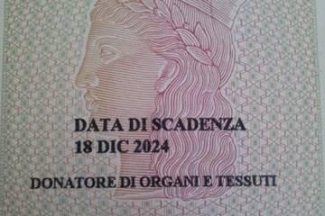 Carta d'Identità donazione organi