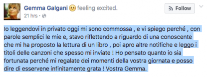 Gemma su Facebook