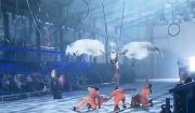 Una scena dell'inaugurazione del Gottardo