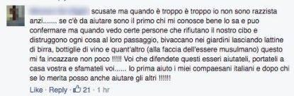 Commento sgombero Ventimiglia 2