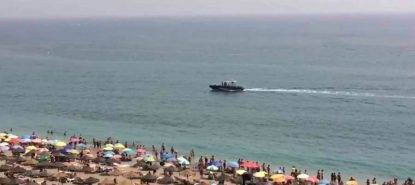 TOURISTS were ordered out of the water at a packed Costa del Sol beach after bathers said they had spotted a shark on Sunday afternoon in Fuengirola.