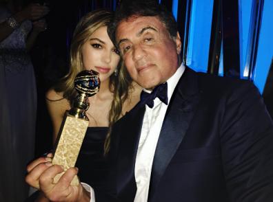 Sistine Stallone con il padre Sylvester