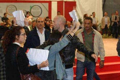 Ministro Boschi contestata alla Festa dell'Unita' a Bologna