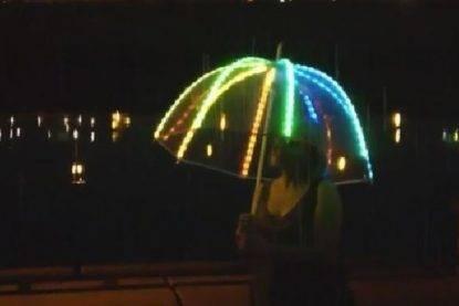 ombrello che cambia colore