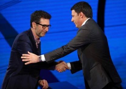 Fabio Fazio con Renzi