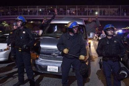 Oakland protest over Ferguson Grand Jury decision