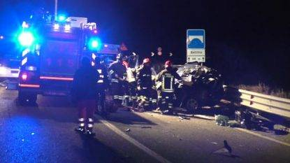 Tre morti in incidente stradale ad Atena Lucana