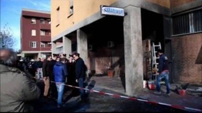Genova, in fiamme nella notte la nuova caserma dei carabinieri di Rivarolo