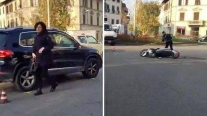 Incidente per Agnese Renzi, in auto contro scooter