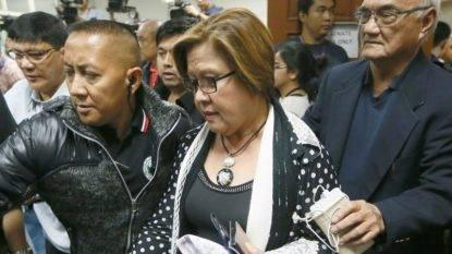 FILIPPINE - Lotta alla droga. Arrestata per droga senatrice oppositrice di presidente Duterte