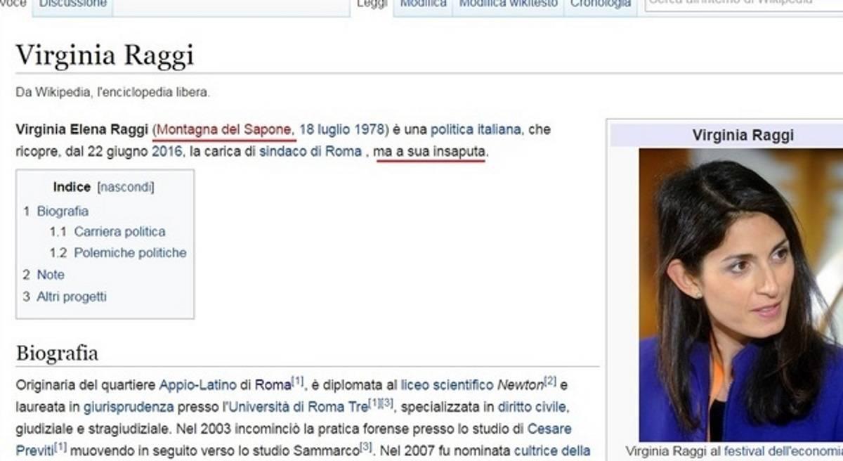 Se anche wikipedia prende in giro la raggi sindaco di for Politica italiana wikipedia