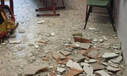 Tragedia sfiorata: crolla il soffitto di una scuola elementare in Campania