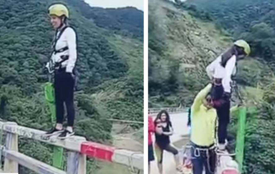 incidente bungee jumping