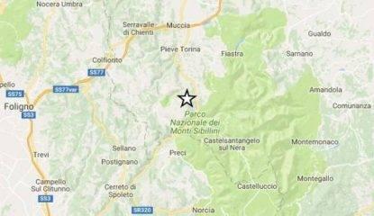 Terremoto, tre forti scosse a Visso.