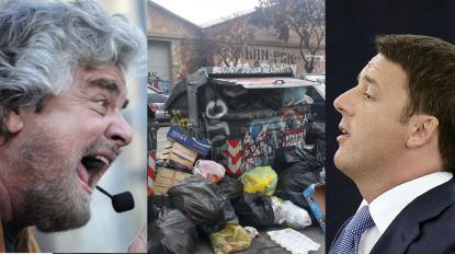 Renzi: Roma è invasa dai rifiuti, M5S incapace di dare risposte