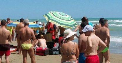 Grottammare: tragedia in spiaggia annega turista di 44 anni