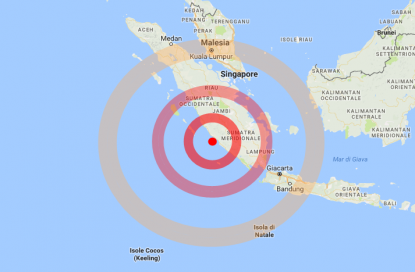 Indonesia, scossa di terremoto 6.4 a largo di Sumatra