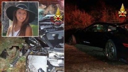 Con l'auto contro un albero: muore una ragazza di 21 anni