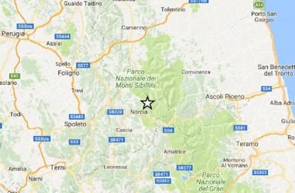 Perugia, terremoto magnitudo pari a 3.2