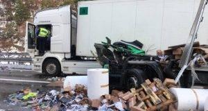 Camion incidentato