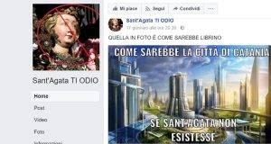 Vignetta di odio contro Sant'Agata