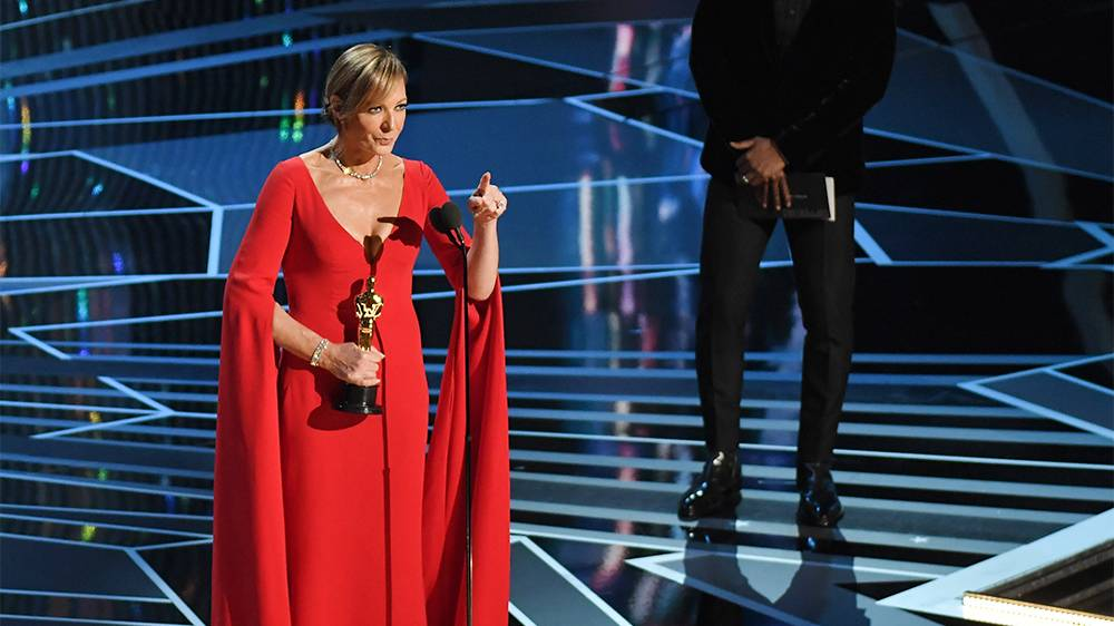 Allison Janney sul palco degli Oscar 2018