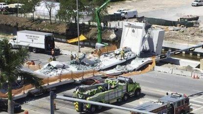 crolla ponte pedonale Miami