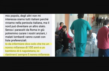 Dichiarazione shock di un infermiere su Facebook