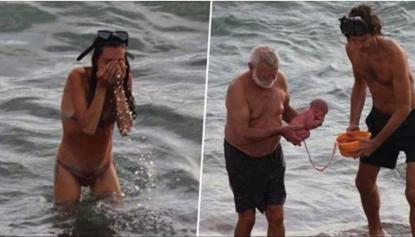 Turista partorisce nel Mar Rosso, ecco le immagini che sono diventate virali