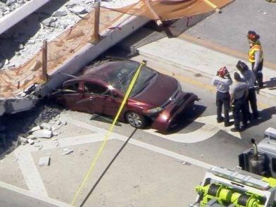 Florida International University crollo ponte morti