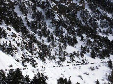 Migrante incinta salvata da guida alpina francese