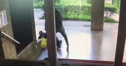 Video aggressione anziano su Facebook