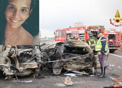 Strage sulla A31, fra le vittime morte carbonizzate Arianna, 17 anni, e il suo papà