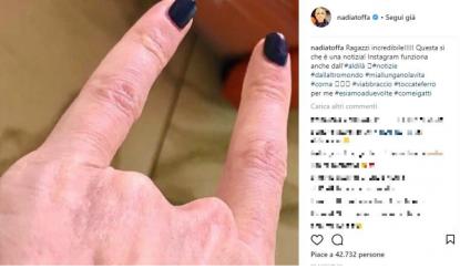 La risposta ironica di Nadia Toffa