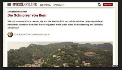 """Giornale tedesco: """"Gli italiani sono scrocconi ingrati"""". Cittadino italiano chiede il risarcimento"""