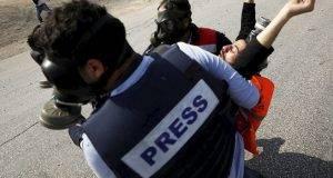 Striscia di Gaza: Gas lacrimogeni colpiscono la stampa internazionale - VIDEO