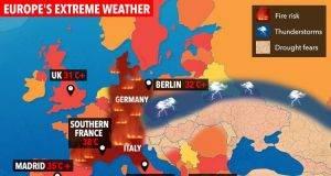Allarme caldo anomalo in Europa