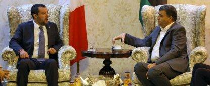 """Salvini a Tripoli: """"Vogliamo collaborare con la Libia"""""""