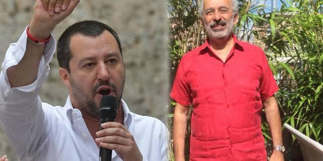 Gad Lerner predica sull'accoglienza dei migranti con il Rolex al polso, ecco la risposta di Salvini