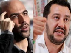"""Saviano: """"Salvini ministro della mala vita, si eccita coi bimbi morti"""". Salvini: """"Ti dò una carezza e una querela"""""""