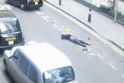 Tassista lascia in mezzo alla strada passeggero ubriaco e privo di coscienza: le immagini shock
