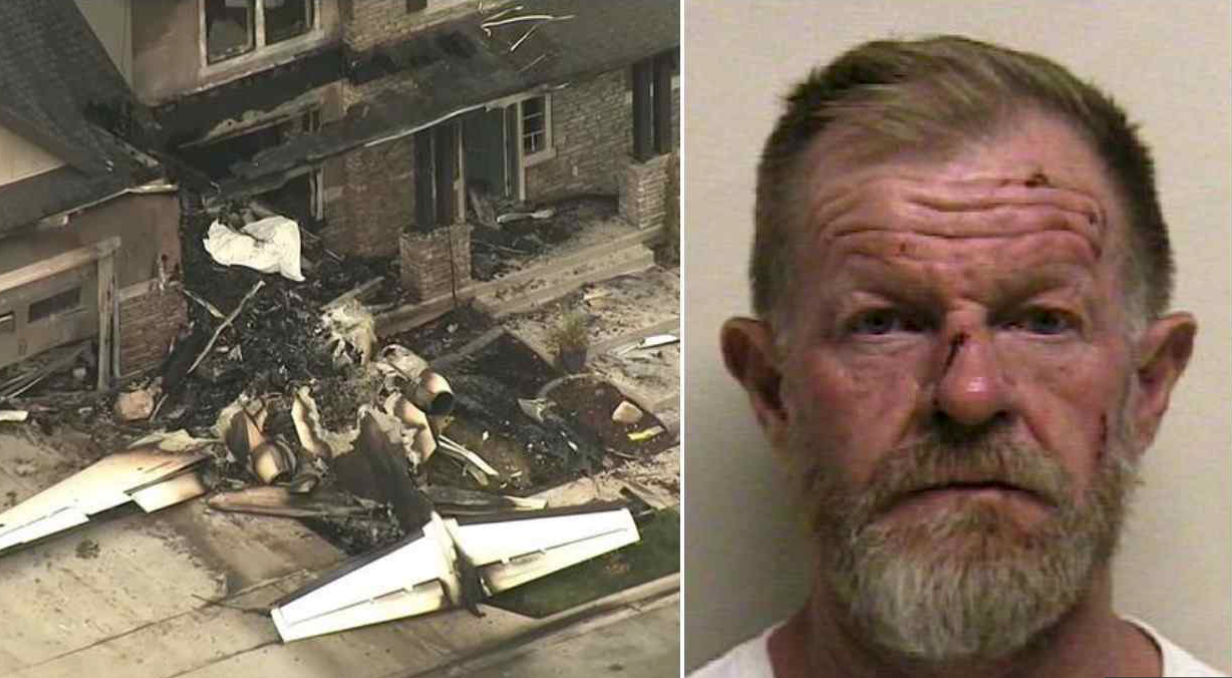 Si schianta con un aereo contro casa sua per uccidere moglie e figlio: ma le cose non vanno come previsto