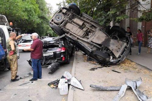 Incidente stradale tra un Suv e una BMW