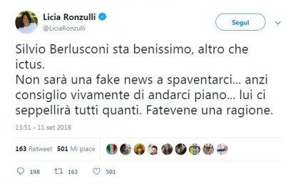 Licia Ronzulli su Twitter