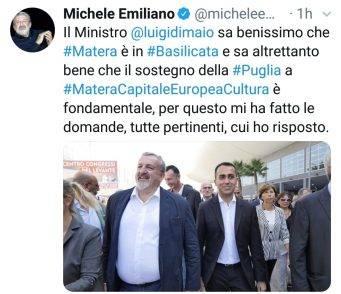 Michele Emiliano difende Luigi Di Maio