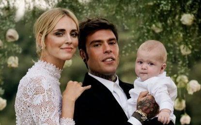 Chiara Ferragni, Fedez e Leone nel giorno del matrimonio