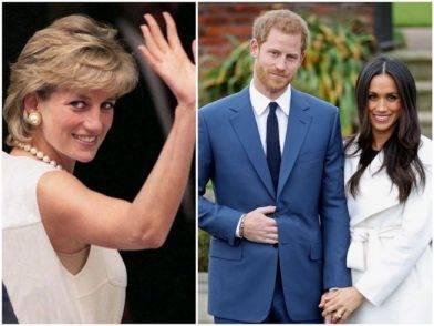 Lady Diana, il Principe Harry e Meghan Markle