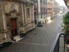 Nubifragio nel Catanese: allagamenti, strade chiuse e trasformate in fiumi