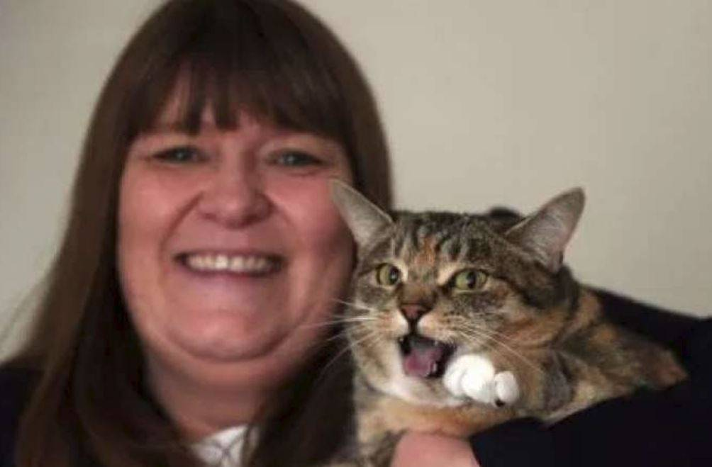 salvata dalla gatta