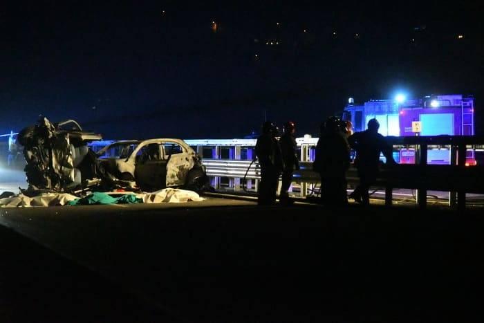 Contromano in statale, muoiono in sei persone- cinque erano ragazzi fra i 20 e i 33 anni -min